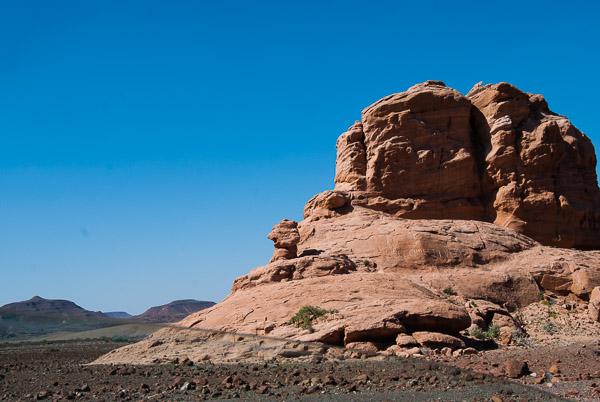 Le tipiche formazioni rocciose del Damaraland