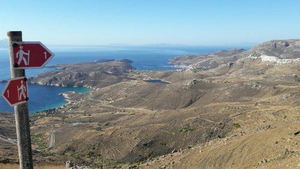 Sul sentiero fra Chora e Kallistos, Serifos