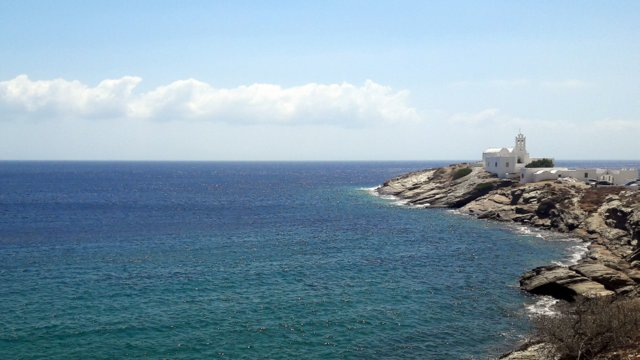 Il monastero di Chrissopigi, Sifnos