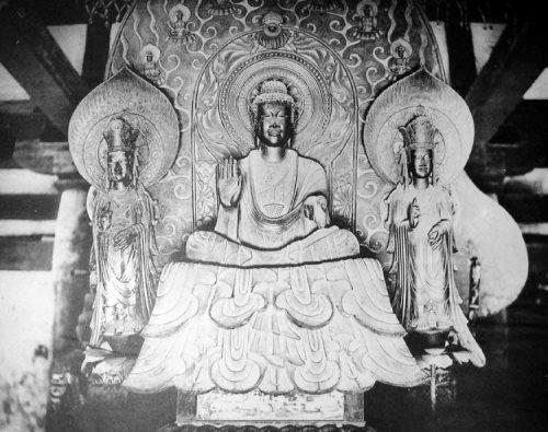 La triade di Shaka, Horyu-ji