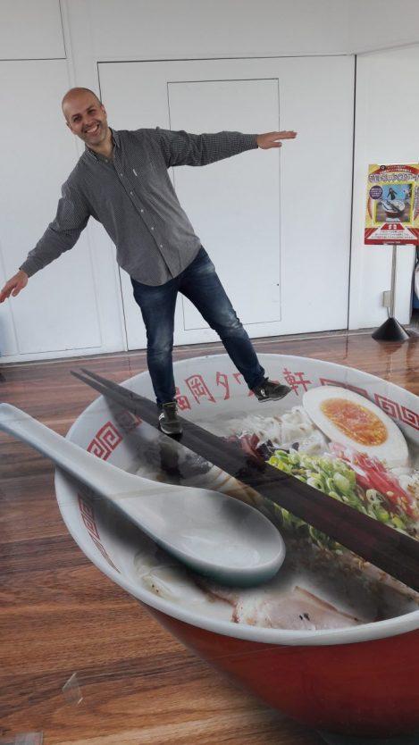 Una foto un po' stupida a Fukuoka