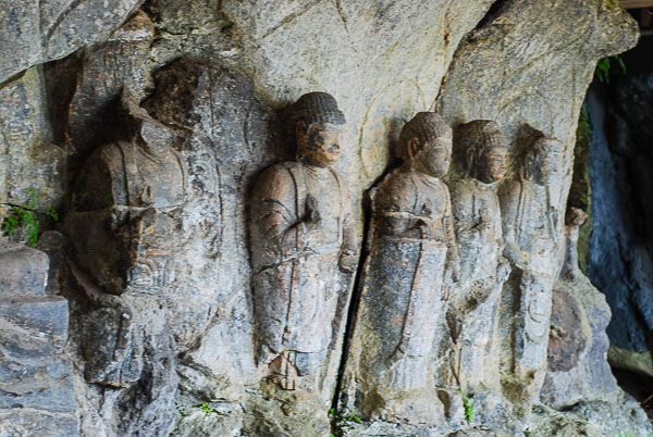Incisioni nella roccia a Usuki
