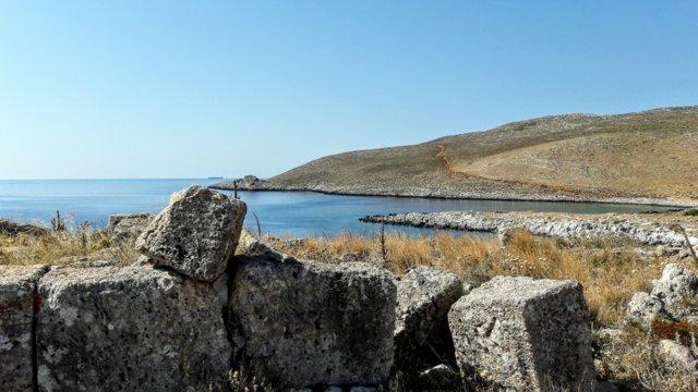 Le rovine del tempio di Poseidone, a capo Matapan