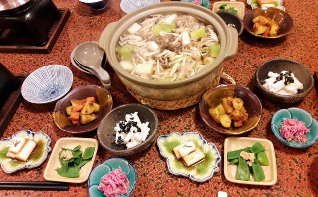 Una cena in Minshuku, con un grande Nab