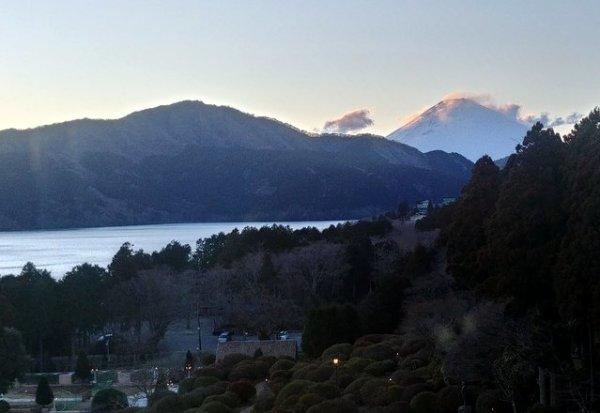 Il monte Fuji visto da Moto Hakone