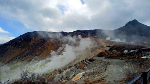 La valle ribollente di Owakudani