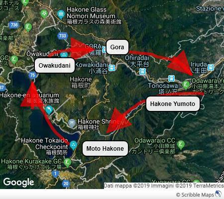Il classico giro dell'area di Hakone