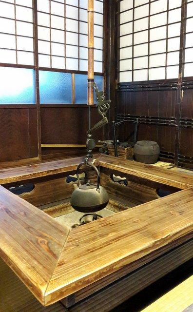 Un irori (braciere) nella casa Ishiguro