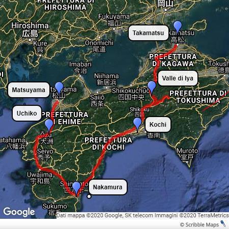 Il mio itinerario nello Shikoku