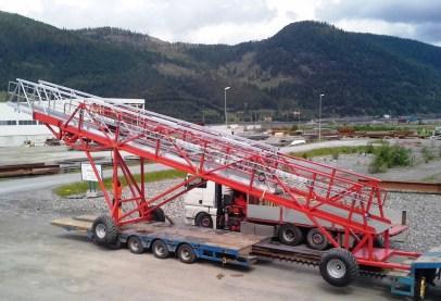 Prefabrikasjon - Landgang-Kraning og frakt