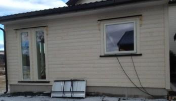 Yttervegg med vinduer