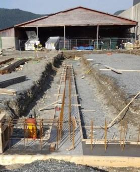 Nytt varemottak til OTI - Grunn- og betongarbeid