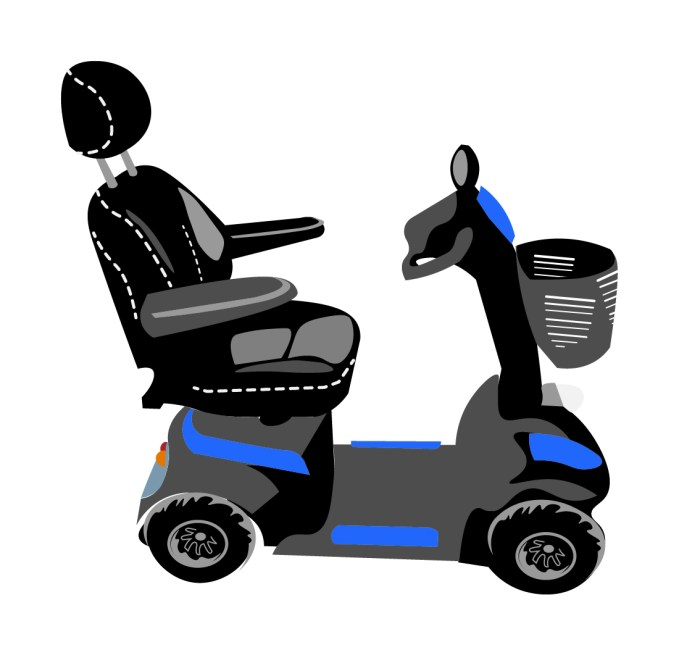 graphic of an envoy mobility scooter which odf hires out