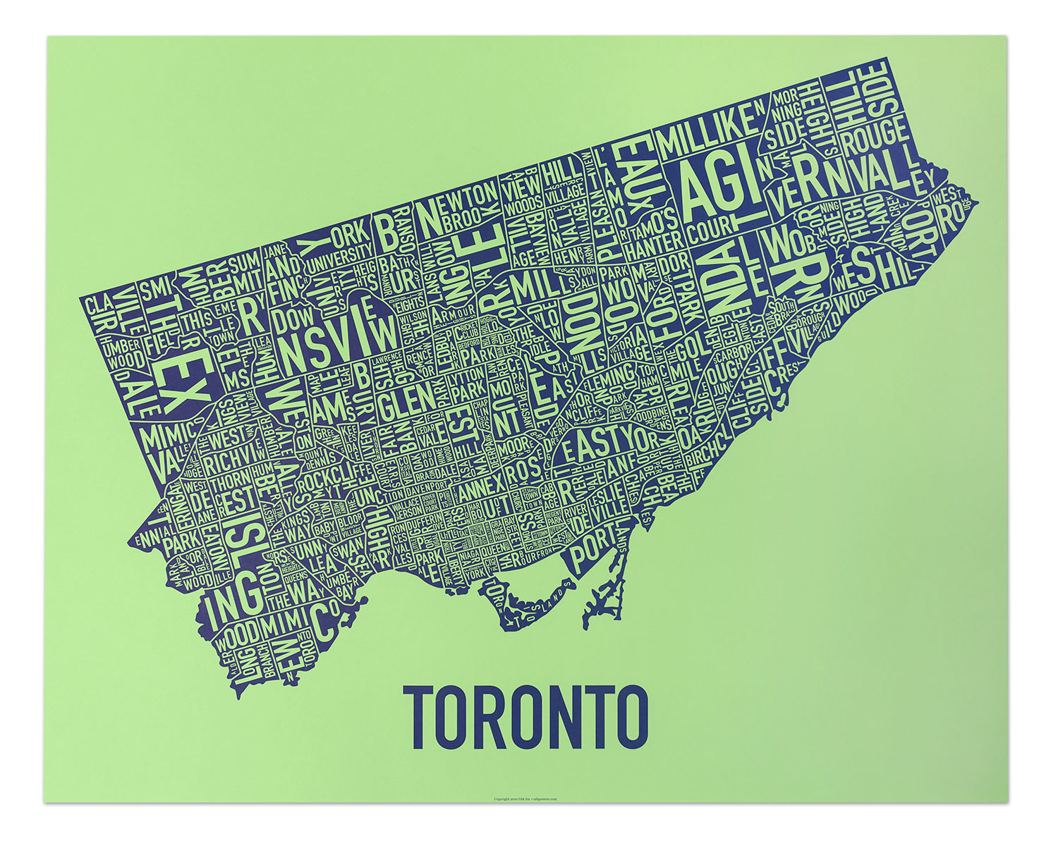 Toronto Neighborhood Map Posters Amp Prints