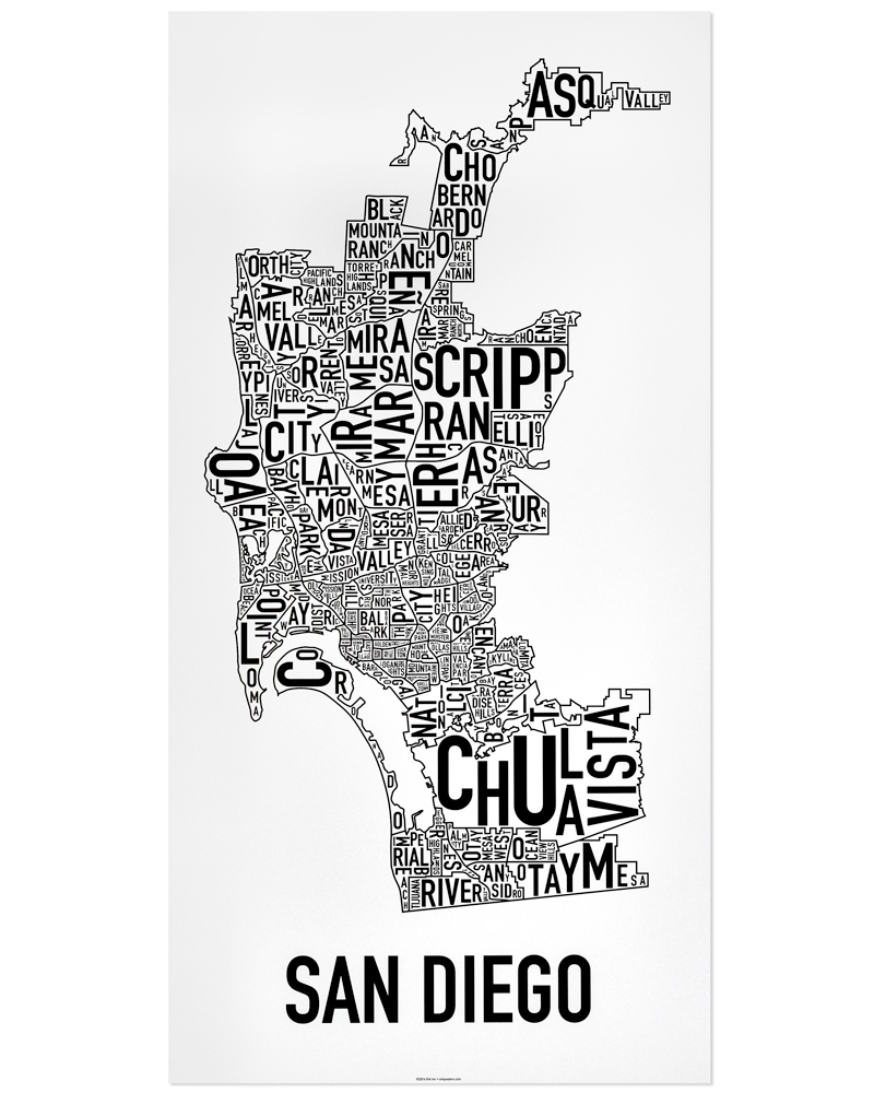 San Diego Neighborhood Map 16