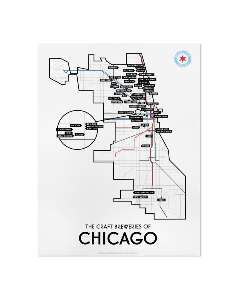 Chicago Craft Brewery Map 11