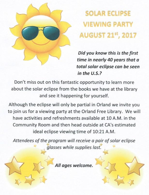Solar eclipse flyer