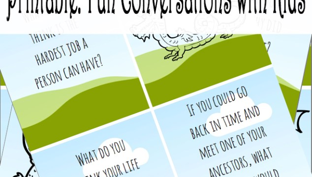 Printable: Fun Conversations with Kids