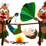 cannibals roasting human