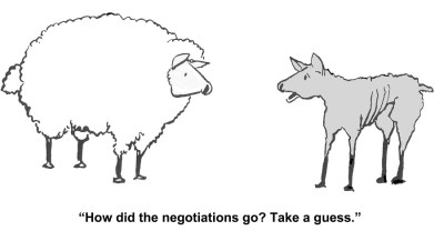 The negotiations went poorly for the businesswoman.