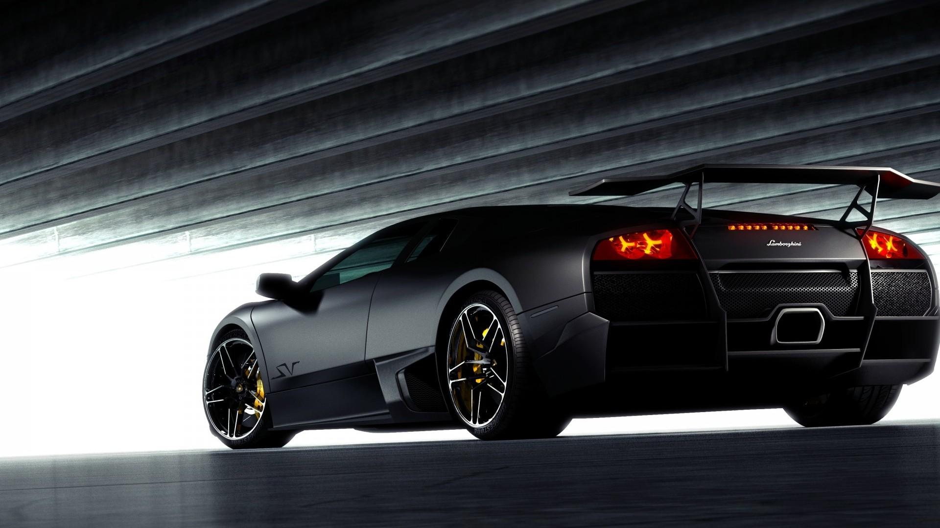 black-lamborghini-back-view-hd-wallpapers-1080p-cars ...