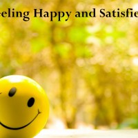 Feeling Happy and Satisfied