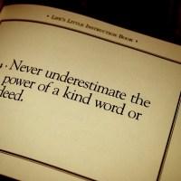 Never Underestimate Words