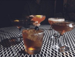 Beautiful prohibition era cocktails