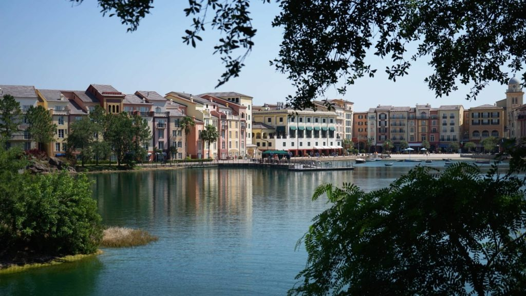 The majestic Portofino Bay Hotel