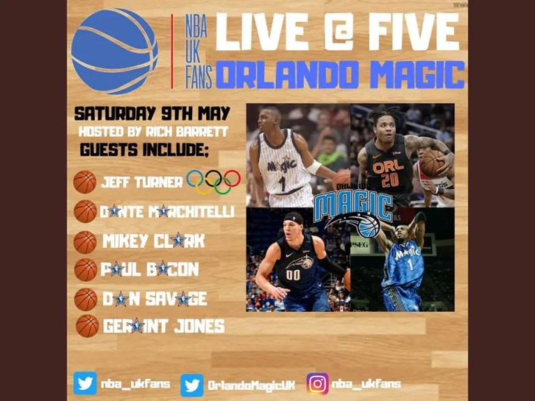 Read more about the article ORLANDO MAGIC FEATURED ON NBA UK FANS LIVE @ FIVE INSTAGRAM LIVE