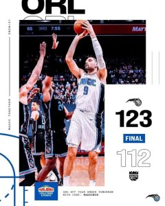 THE MAGIC WIN AS VUCEVIC HITS 42 POINTS