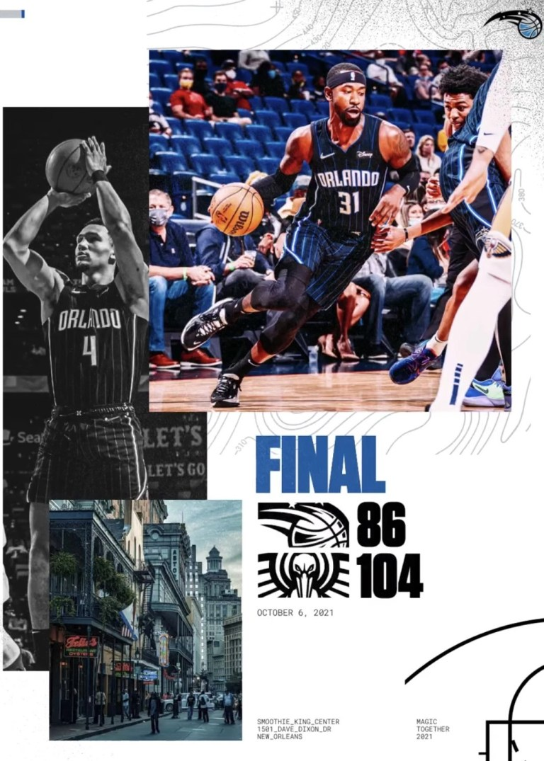 Read more about the article A SECOND MAGIC PRESEASON LOSS