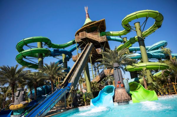 Image of slide at Volcano Bay