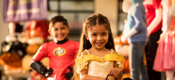 Halloween in Orlando: image of girl in costume at Disney Springs Halloween