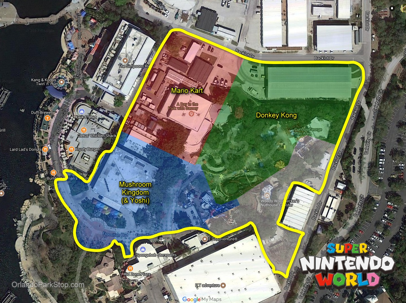 Disney World Park Layout