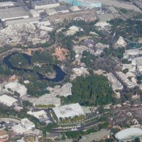 Aerial Photos of Disneyland Resort in California