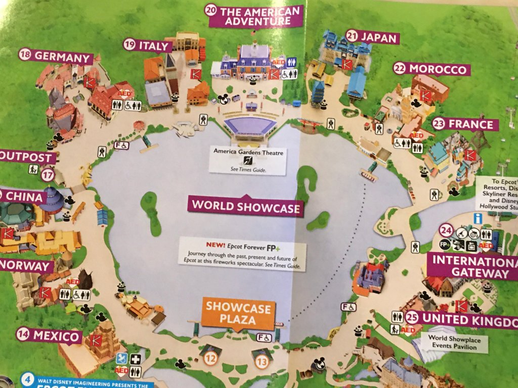 PHOTOS: Updated Guide Map of Epcot