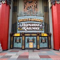 Mickey & Minnie's Runaway Railway  Marquee Sign Installed on the Chinese Theatre at Disney's Hollywood Studios
