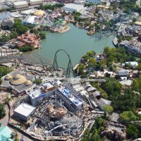 Further Aerial Images of Jurassic Park Roller Coaster Construction