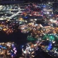 Aerial Photos of Universal Orlando at Night