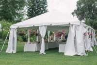 Tent Leg Drapes - Orlando Wedding and Party Rentals