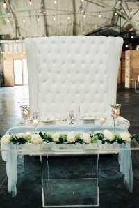 Acrylic Sweetheart Table - Orlando Wedding and Party Rentals