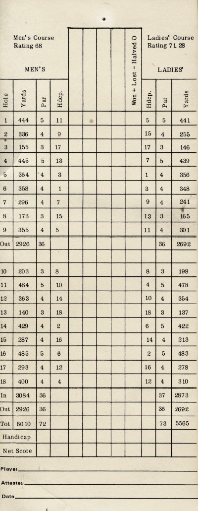 Antique Scorecard 4