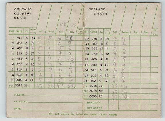 Antique Scorecard 2