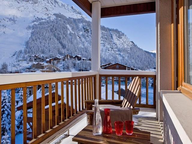 Hotel Ormelune Val d'Isère - Chambre Large - Balcon et Vue