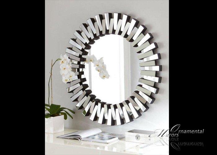Round Glass Wall Mirror