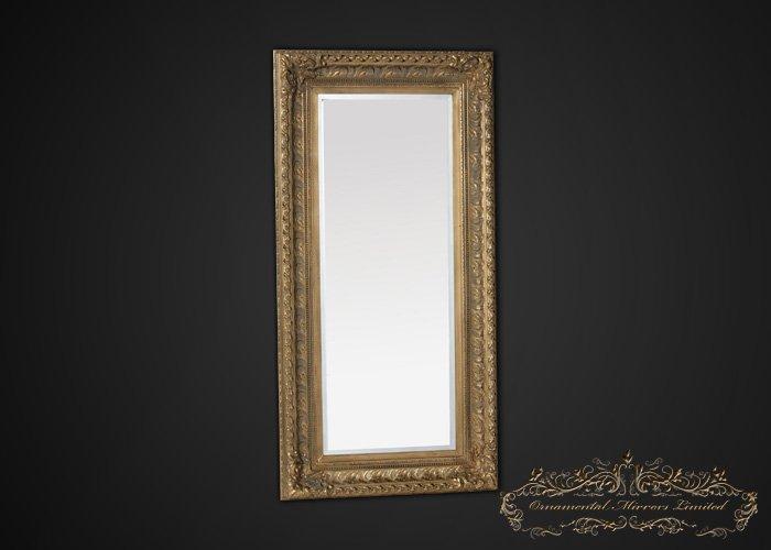 Large Antique Gold Framed Mirror