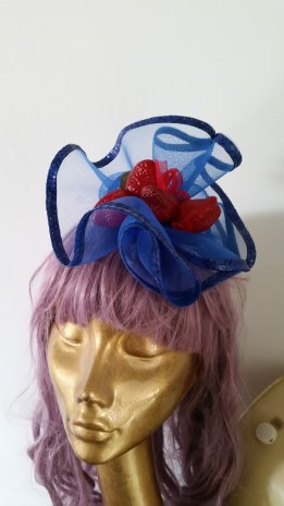 fruit and net the perfect combo for 1950's inspired fascinator