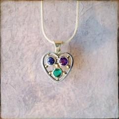 silvio - birthstone heart pendant