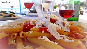 Penne with tomatoes and ricotta